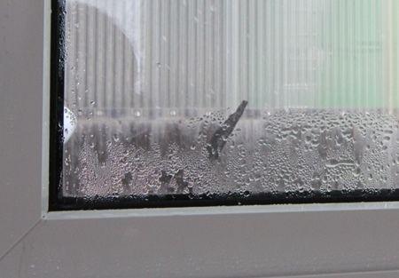 窓の結露実験