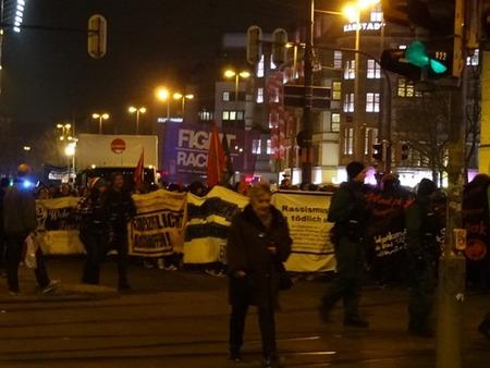 ドイツのデモ行進