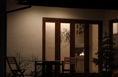 暖炉のある家(1)