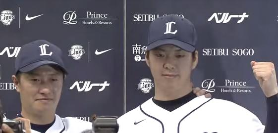 渡辺直人選手と十亀剣投手のヒーローインタビュー