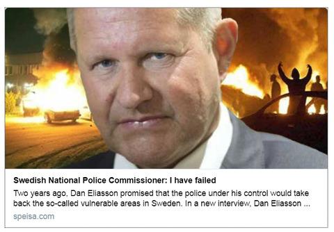 スウェーデン警察「ごめん!治安回復に失敗しちゃった♪」スウェーデン警察庁長官、同国の治安回復に失敗したことを認める。[海外の反応]