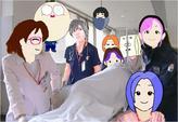 病院廊下ボブスレーコース