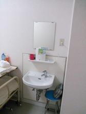 病室内の洗面台
