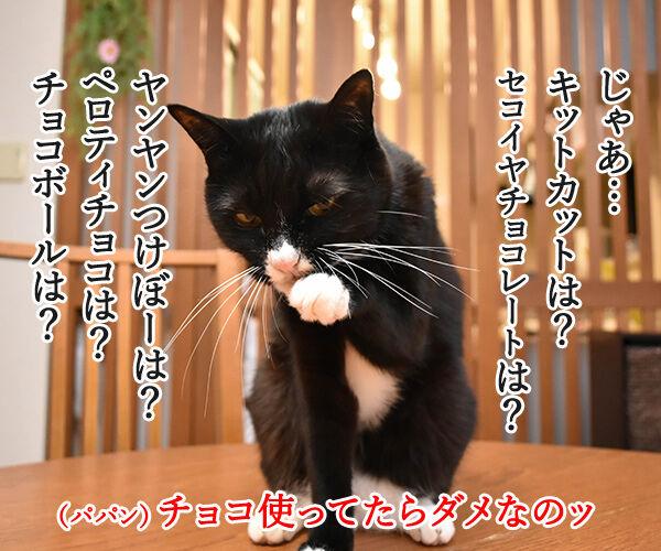 もうすぐバレンタインだから… 猫の写真で4コマ漫画 3コマ目ッ