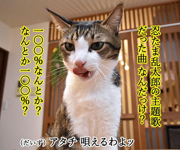 光GENJIのあの曲は? 猫の写真で4コマ漫画 3コマ目ッ