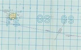 竹島 米国航空図