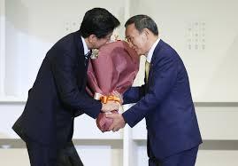 安倍総理花束