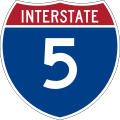 Interstate Highway 5の標識