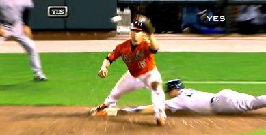 2012年9月8日 ボルチモア戦9回表 一塁塁審Jerry Mealsの誤審3