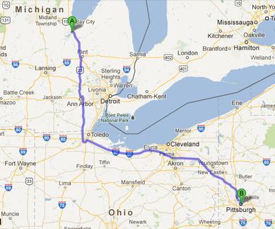 サギノーからピッツバーグまでの400マイル