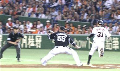 2013年4月17日 巨人・阪神戦の牧田匡平審判による誤審