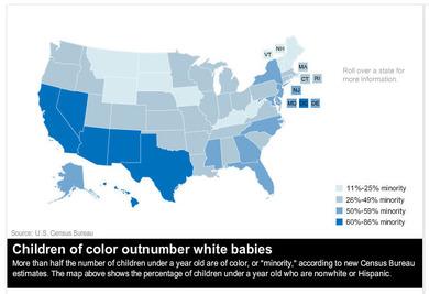 州別・乳児に占めるマイノリティ率