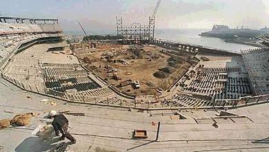 建設中のパシフィックベルパーク
