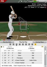 2009年7月10日 投手モロー テキサス戦 キンズラー四球