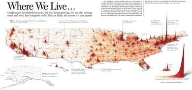 アメリカの人口分布