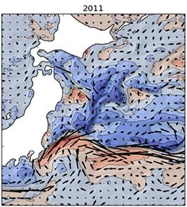 2011年の日本近海の海面水温