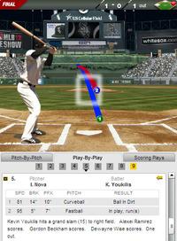 2012年8月21日 ケビン・ユーキリス 満塁ホームラン