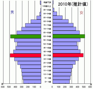 2010年の人口ピラミッド