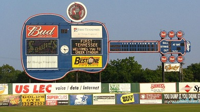 score board of Herschel Greer Stadium