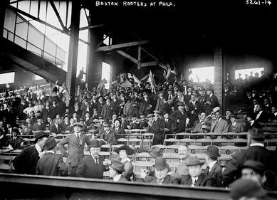 1914年ワールドシリーズにおけるボストン・ブレーブスのファン席