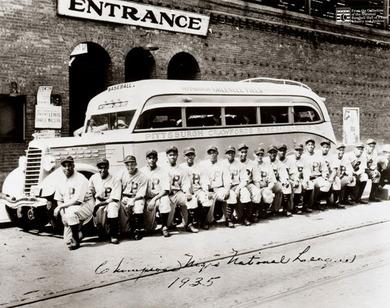 ニグロ・リーグの球団のひとつ、Pittsburgh Crawfords