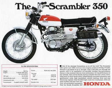 The Scramblerと呼ばれたHonda CL-350のカタログ