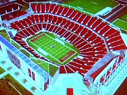 サンフランシスコ49ersの新スタジアム完成予想図
