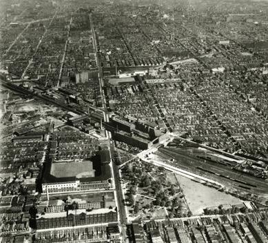 テンプル大学所蔵の1929年のShibe Park空撮