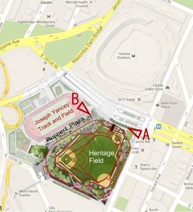 Ruppert Plaza and New Yankee Stadium