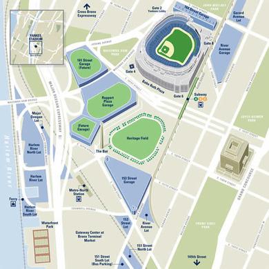 旧ヤンキースタジアム周辺に密集する「駐車場」
