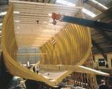 木造帆船の典型的な「竜骨」