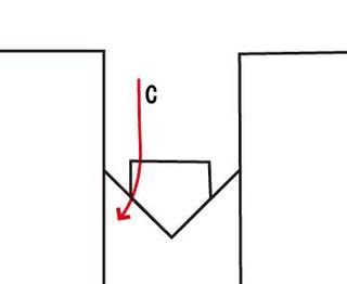 左バッターのアウトコースをかすめる2シームの軌道