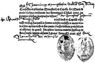 A Roman Catholic indulgence, dated Dec. 19, 1521.
