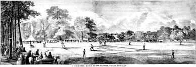 1859 Baseball Game at Elysian Fields, Hoboken, NJ