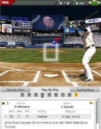 2012年9月19日トロント第2試合4回裏2死走者なしライト線二塁打