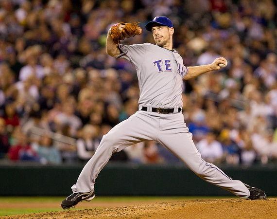 テキサスでのクリフ・リーの投球フォーム 2010年10月26日、クリフ・リーの投球フォームが打ち