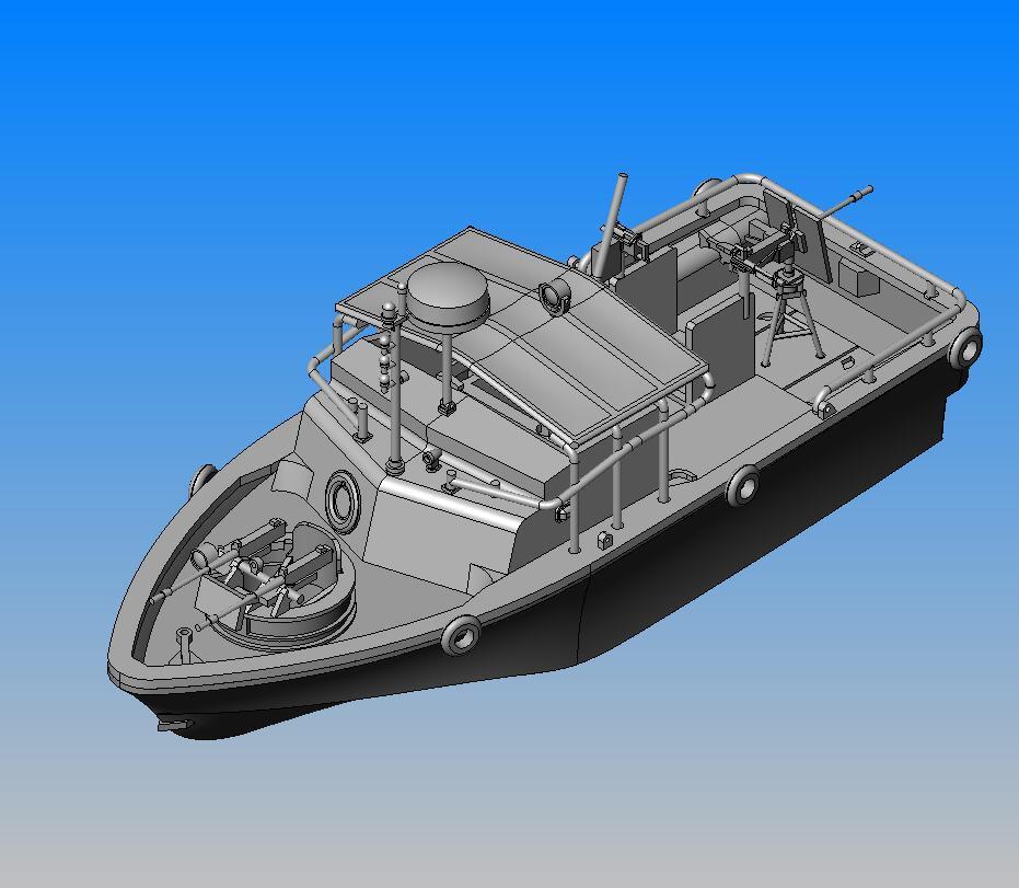 河川哨戒艇 ピバーMk.II原型製作記(その6) : DAMEYA@1/144