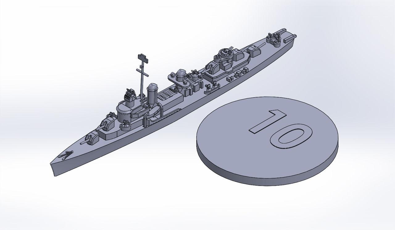1/2000 フレッチャー級駆逐艦(後期型)原型製作記(その1) : DAMEYA ...