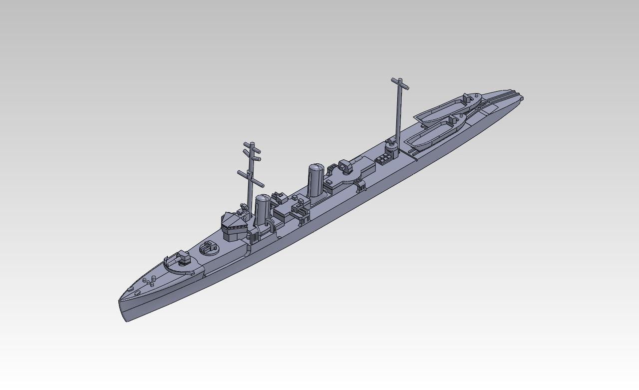 1/2000 第1号型哨戒艇 原型製作記(その2) : DAMEYA@1/144