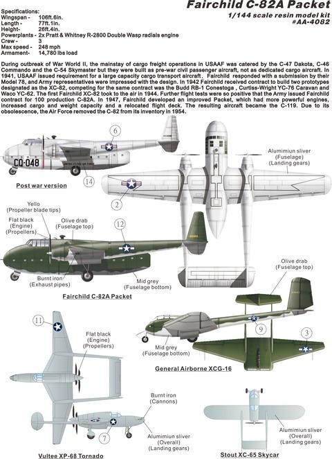 AA4082FairchildC-82Aplan
