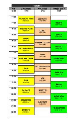 SSMC2014タイムスケジュール