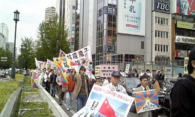 整然と、粛々と行われたデモ行進