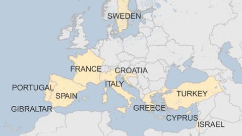 モナーク航空地図