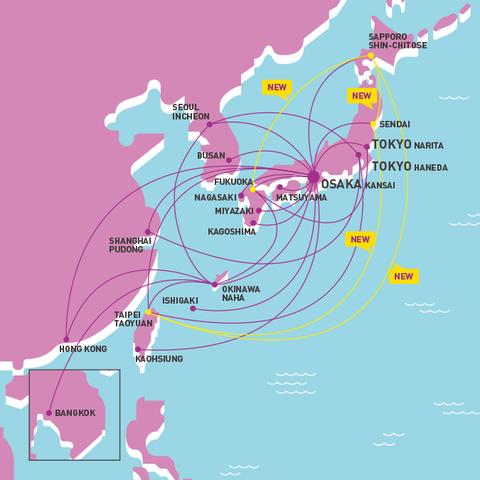 ピーチ路線図