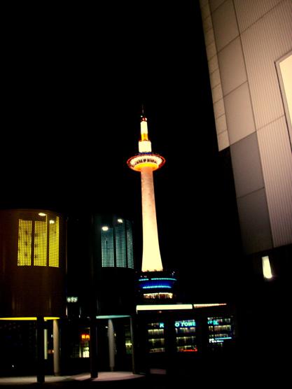 011 夜の京都タワー