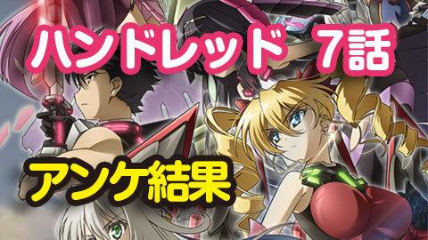【ハンドレッド】7話 ニコ生アンケ とても良かった65.9%「囚われの荊姫」