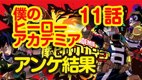 【僕のヒーローアカデミア】11話 ニコ生アンケ とても良かった94.8%「ゲームオーバー」