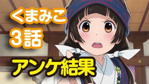 【くまみこ】3話 ニコ生アンケ とても良かった93.3%「伝統を守る者」