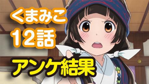 【くまみこ】12話 ニコ生アンケ 良くなかった50.9%「決断」