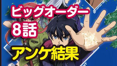 【ビッグオーダー】8話 ニコ生アンケ とても良かった65.6%「オーダー! 急げ、戦地へ!BIG battle」